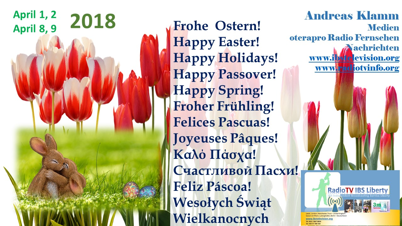 Frohe Ostern! Happy Passover! Frohe Fest- und Feiertage!