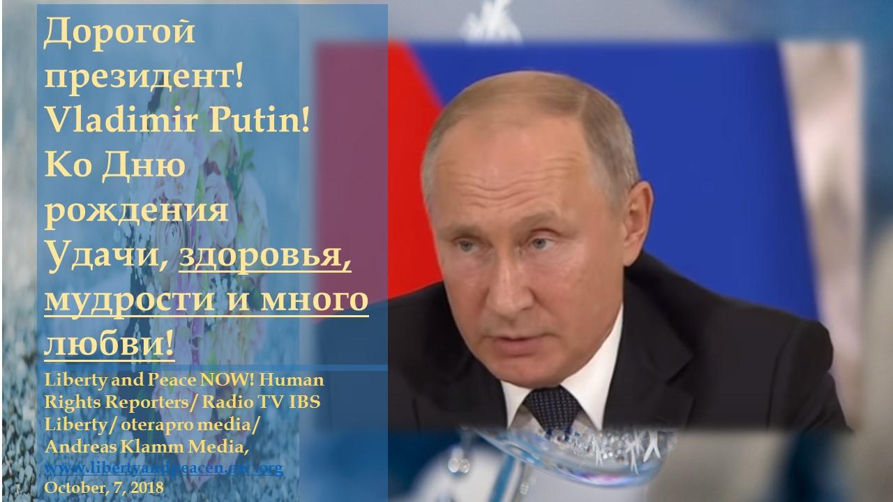 Happy Birthday To President Vladimir Putin