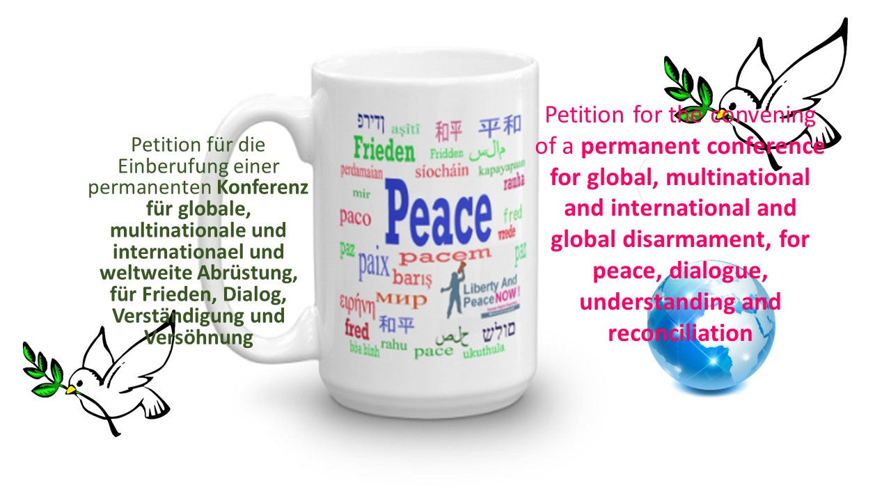 Öffentliche Petition an Deutschen Bundestag für globale Abrüstung und für Frieden